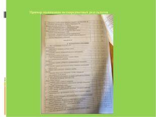 Пример оценивания метапредметных результатов