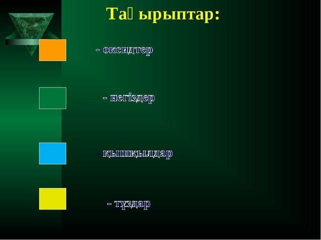 Тақырыптар: