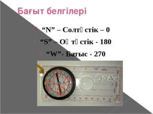Спорттық картамен жұмыс Бағдарлаушының негізгі сүйенер күші бұл-компас және к