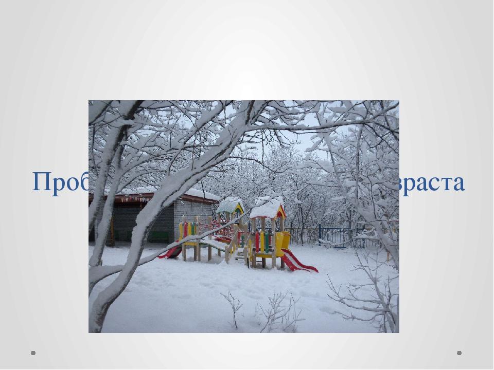 Проблема: что дети раннего возраста  знают о зиме?