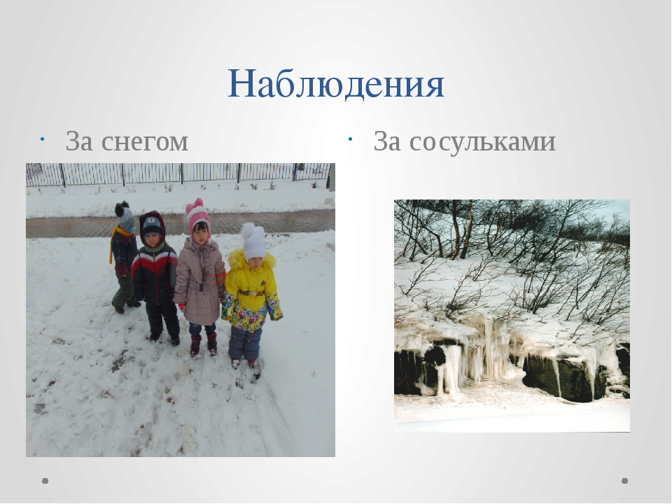 Наблюдения За снегом