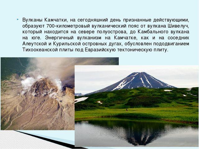 Вулканы Камчатки, на сегодняшний день признанные действующими, образуют 700-к...