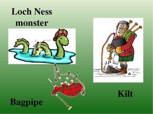 Loch Ness monster Kilt Bagpipe