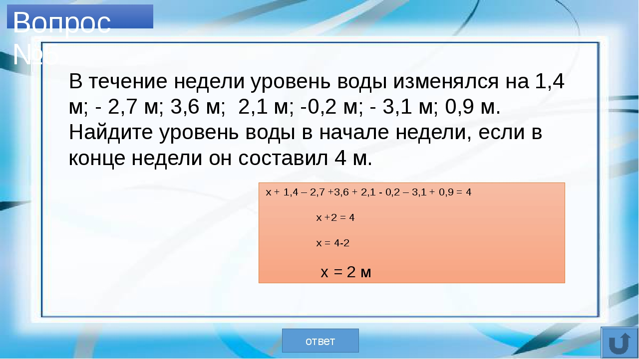 Вопрос №7 ДЕКАРТ ответ Вычислите примеры и сопоставьте ответы с буквами. Вы...