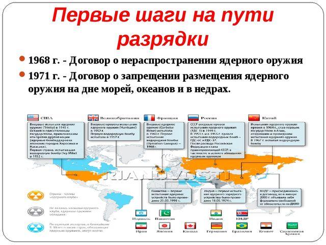 Первые шаги на пути разрядки 1968 г. - Договор о нераспространении ядерного о...