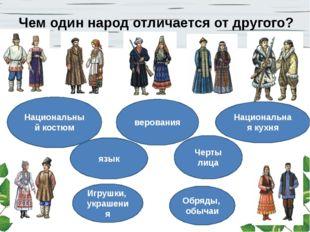 Чем один народ отличается от другого? Национальный костюм Национальная кухня
