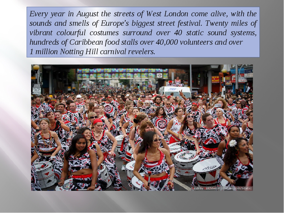 Every year in August the streets of West London come alive, with the sounds a...