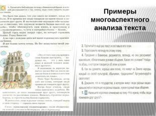 Примеры многоаспектного анализа текста
