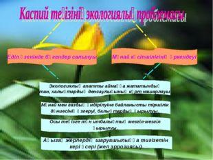 Еділ өзенінде бөгендер салынуы Мұнай кәсіпшілігінің өркендеуі Экологиялық апа