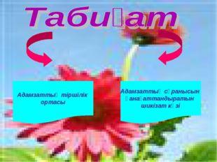 Адамзаттың тіршілік ортасы Адамзаттың сұранысын қанағаттандыратын шикізат көзі