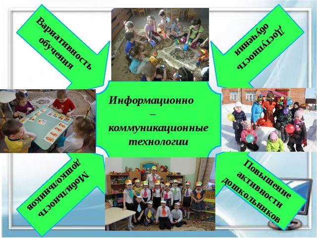 Вариативность обучения Доступность обучения Повышение активности дошкольнико...