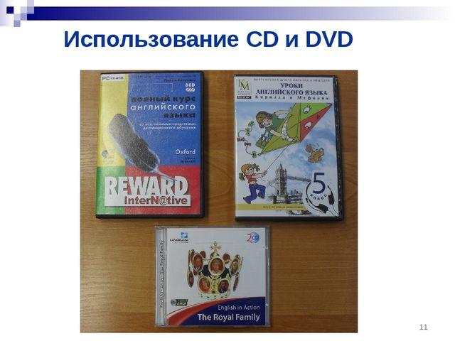 Использование CD и DVD *