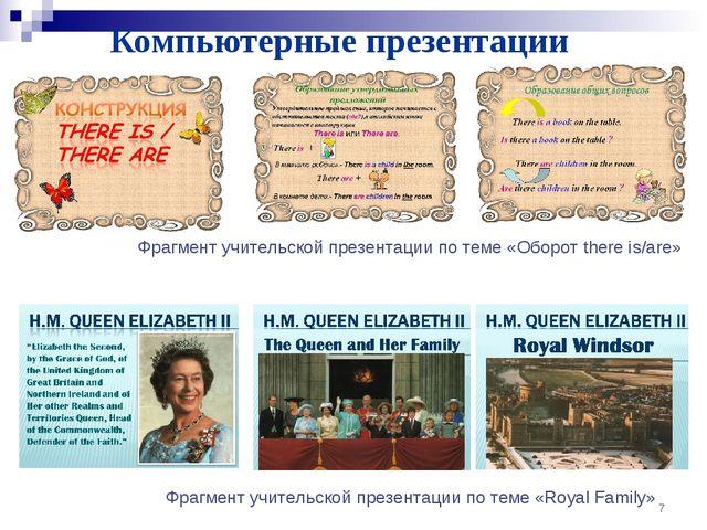 Компьютерные презентации * Фрагмент учительской презентации по теме «Оборот t...