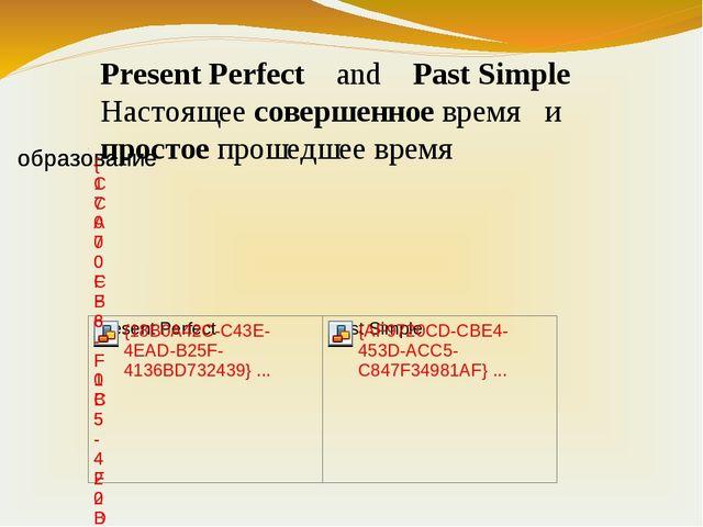 Present Perfect and Past Simple Настоящее совершенное время и простое прошедш...