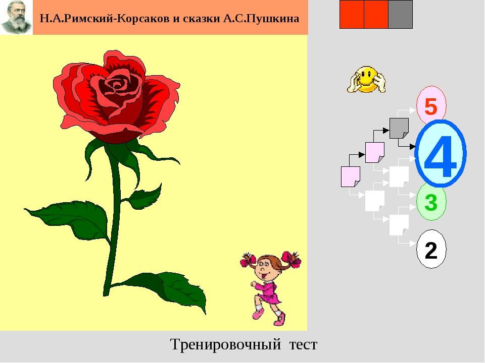 1 5 2 3 4 2 3 Н.А.Римский-Корсаков и сказки А.С.Пушкина Тренировочный тест