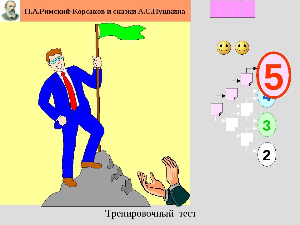 1 2 3 4 2 3 5 Н.А.Римский-Корсаков и сказки А.С.Пушкина Тренировочный тест