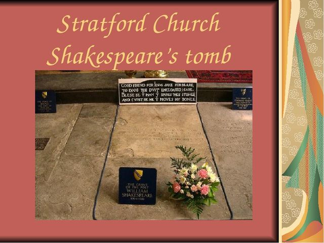 Stratford Church Shakespeare's tomb