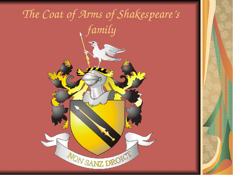 The Coat of Arms of Shakespeare's family