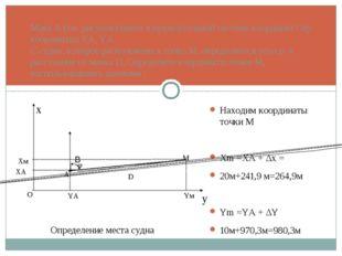 Маяк А (см. рисунок) имеет в прямоугольной системе координат Оху координаты X