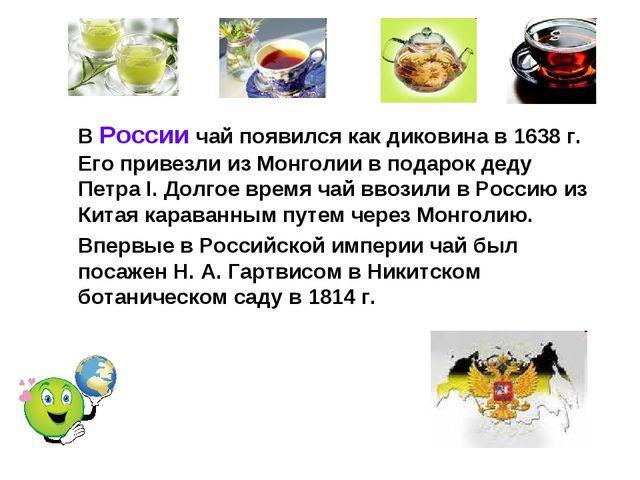 В России чай появился как диковина в 1638 г. Его привезли из Монголии в пода...