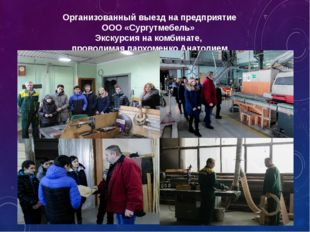 Организованный выезд на предприятие ООО «Сургутмебель» Экскурсия на комбинате