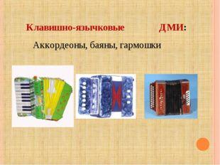 Клавишно-язычковые ДМИ: Аккордеоны, баяны, гармошки