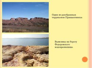 Один из разобранных терриконов Пришахтинска Вымоины на берегу Федоровского во