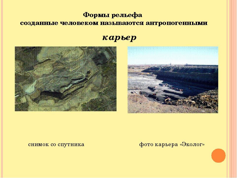 Формы рельефа созданные человеком называются антропогенными снимок со спутник...