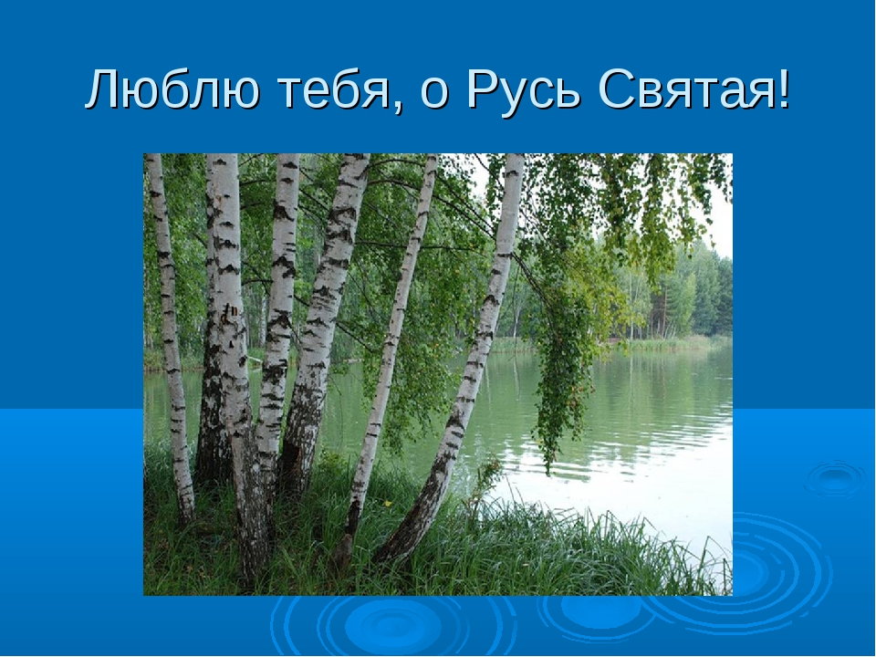Люблю тебя, о Русь Святая!
