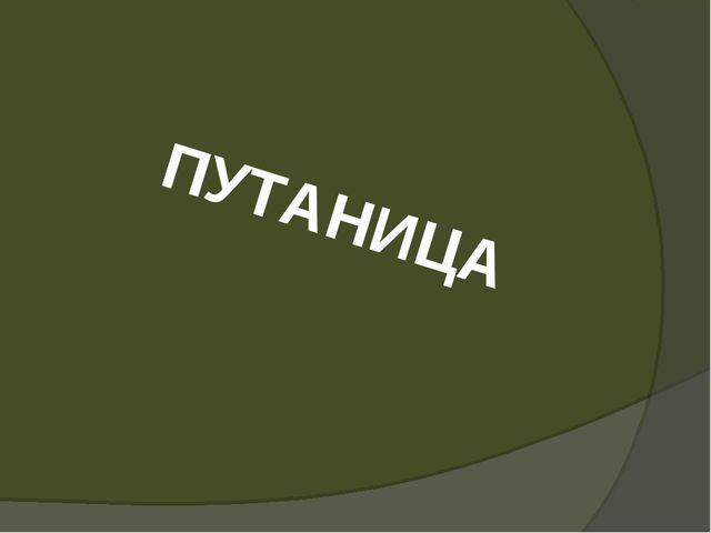 ПУТАНИЦА