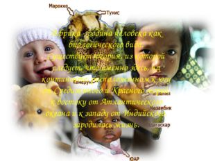 Африка - родина человека как биологического вида. Существует теория, из котор