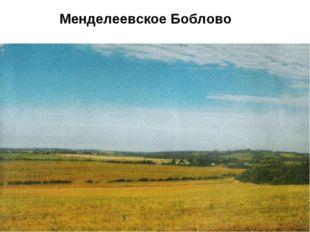 Менделеевское Боблово