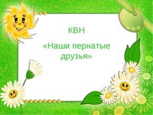 КВН «Наши пернатые друзья»