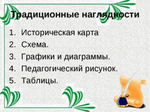 Традиционные наглядности Историческая карта Схема. Графики и диаграммы. Педаг
