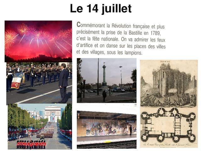 Le 14 juillet ● Les fêtes nationales