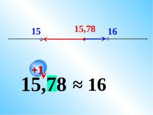 15 16 15,78 15,78 ≈ 16 +1
