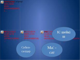 Күшейкіш Мақ-сат Себеп-салдар