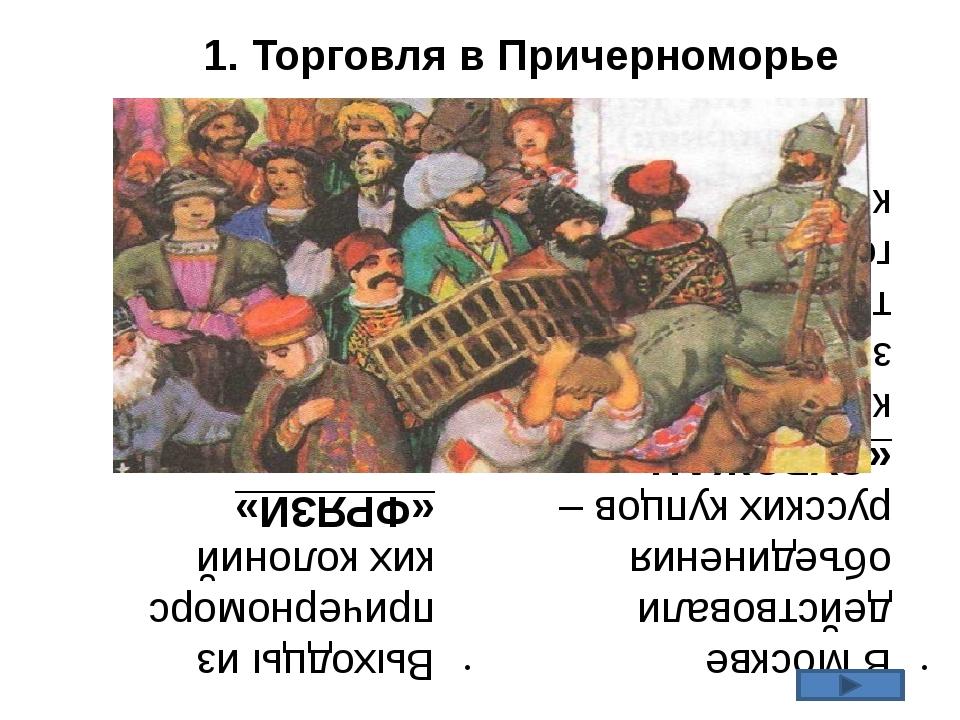 Выходцы из причерноморских колоний «ФРЯЗИ» постоянно проживали в Москве. В Мо...