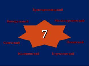7 Тракторозаводский Калининский Курчатовский Советский Центральный Ленинский
