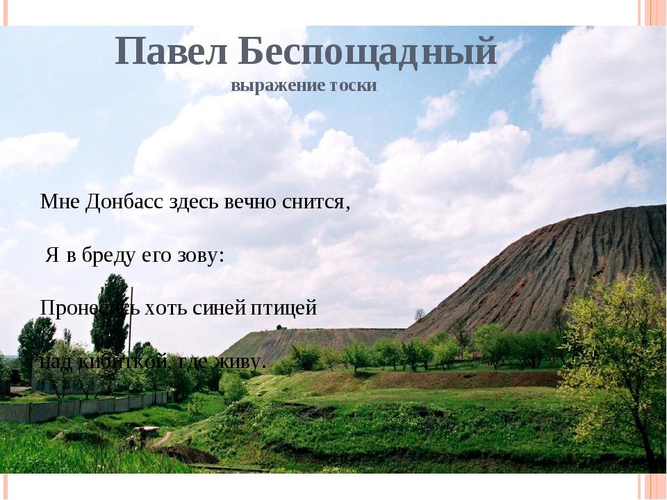 Павел Беспощадный выражение тоски Мне Донбасс здесь вечно снится, Я в бреду е...