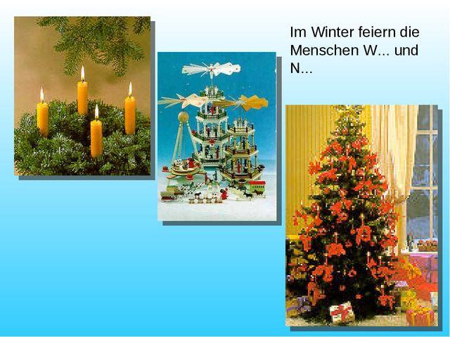 Im Winter feiern die Menschen W... und N...