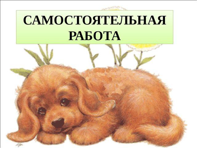 САМОСТОЯТЕЛЬНАЯ РАБОТА Вадим:
