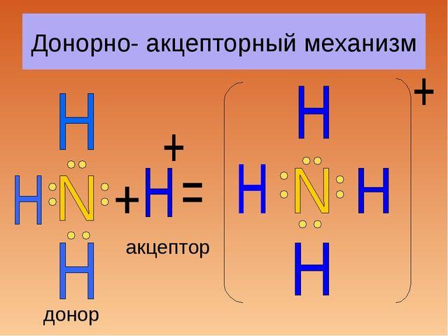 Донорно- акцепторный механизм донор акцептор