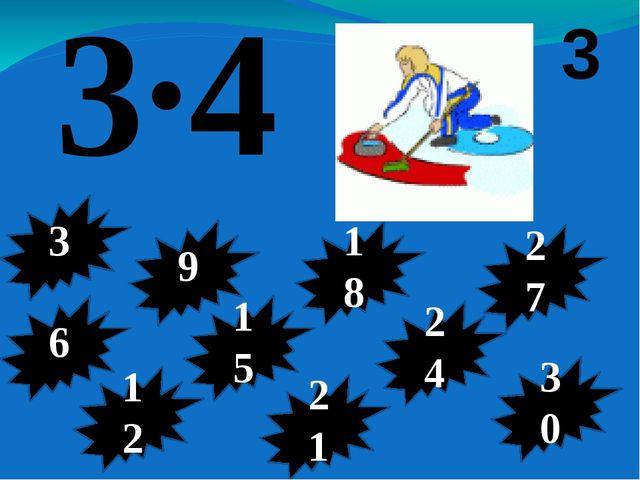 3·9 3 6 3 9 12 18 21 15 24 30 27
