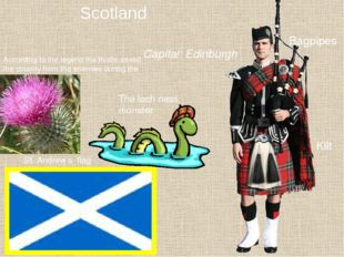 Scotland According to the legend the thistle saved the country from the enemi
