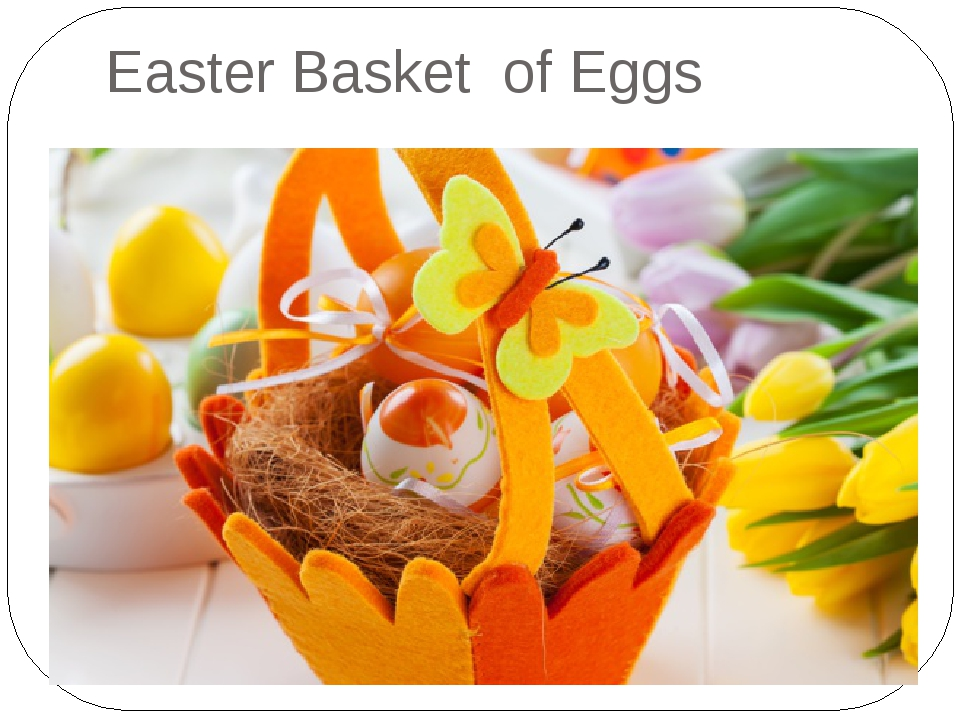 Easter Basket of Eggs