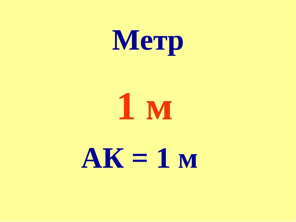 Метр 1 м АК = 1 м