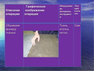 ❻ Описание операции Графическое изображение операцииОборудование, материалы
