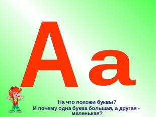 На что похожи буквы? И почему одна буква большая, а другая - маленькая?