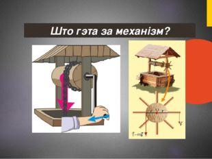 Што гэта за механізм?